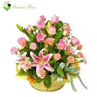 Basket of  Rose, Lily