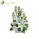 Basket of  Lily, Rose, Carnation, Tuberose (Maryam)