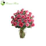 Glass Vase of  Rose, Filler