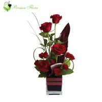 Glass Vase of  Rose