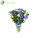 Glass Vase of  Iris
