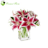 Glass Vase of  Lily