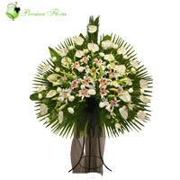 Stand of Lily, Anthurium, Lisianthus