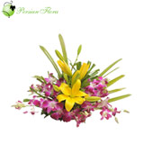 Basket of  Orchid, Lily