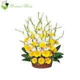 Basket of  Gerbera, Gladiolus, Filler